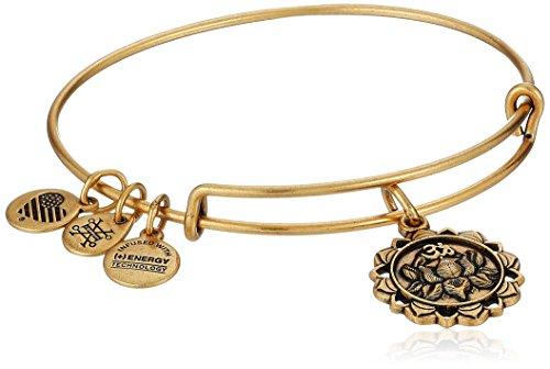 - Alex and Ani Lotus Peace Petals IV Rafaelian Gold Bangle Bracelet