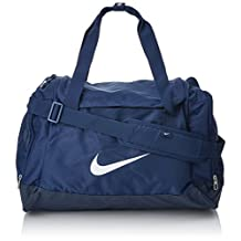 NIKE sports bag Fitness Club Team Swoosh Duffel Small 43 liter size. S bag, color:Navy