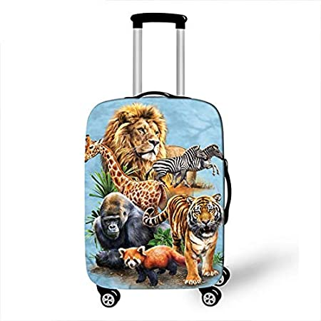 Cartoon Animal Unicorn Luggage Cover Protective Travel Accessories Waterproof Thicken Elastic Suitcase Trunk Case 18-32 Inch XL 17, L