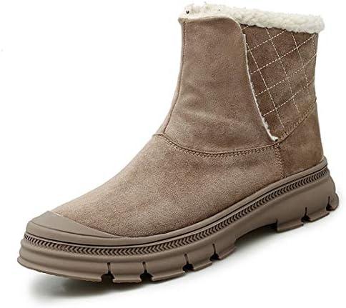 大きいサイズ 毛皮ブーツ 秋冬 メンズ もこもこ 欧米風 裏ボア あったか ブーツ ムートンブーツ スノーブーツ 雪靴 防寒 ウインターブーツ 綿靴 滑らない 歩きやすい 防滑 ブーツ メンズ靴 純色 ハイカット