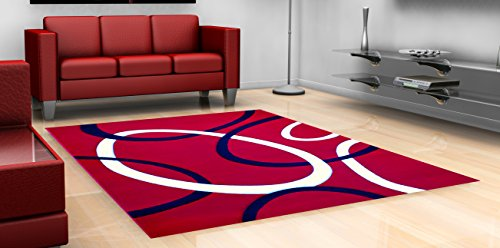 Modern Area Rug 5 Ft. 2 In. X 7 Ft. 1 In. # Hollywood 286 Red