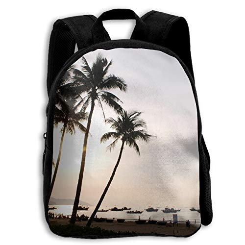 AACC-Bag Children's Bags Coconut Tree Boys and Girls Backpack¡¢600D Plain Oxford Coth ()