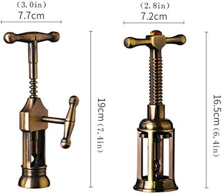 Sacacorchos para Botellas Tool Kit sacacorchos retro Inicio del sacacorchos del vino creativo multifuncional Rotary Sacacorchos amarillo aleación de titanio Abridor Botellas ( Size : B )