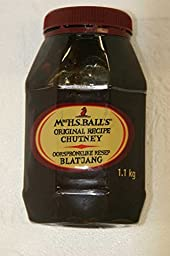 Mrs Balls Original Chutney (1.1Kg wide mouth plastic bottle) - Imported from South Africa