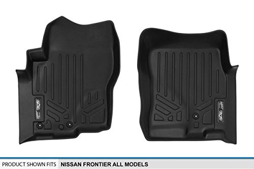 Maxliner USA A0121 All Models SMARTLINER Floor Mats 1st Row Liner Set Black for 2005-2018 Nissan Frontier