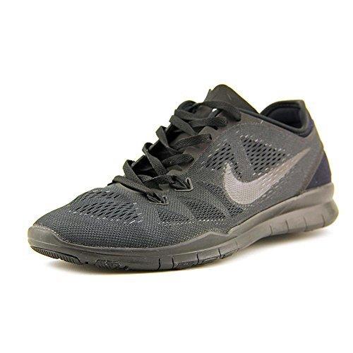 Nike Free 5.0 TR Fit 5 Womens Cross Training Shoes (5.5, Black/Black/Black)