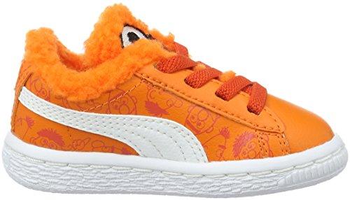 Puma Basket Sesame B&e Ac - Zapatillas Unisex Niños Naranja - Orange (Dandelion-vibrant Orange-puma Black 01)