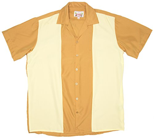ragstock-mens-short-sleeve-retro-bowling-shirt-mocha-sand-x-large