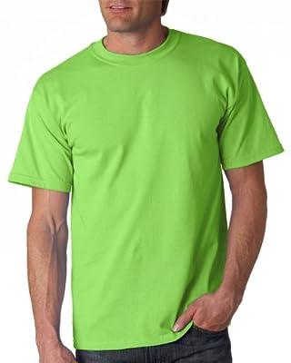 Gildan Adult Ultra Cotton T-Shirt, Lime, Large. 2000