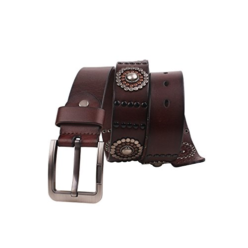 Fioretto-Men-Studded-Jeans-Leather-Belt-Punk-Fashion-Vintage-Pin-Belts-Italian-Cowhide