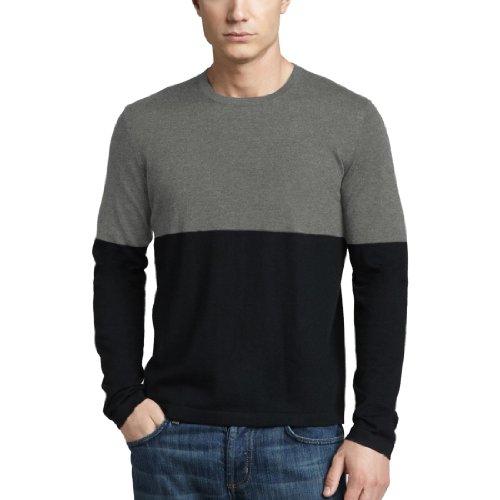 Parisbonbon Men's 100% Cashmere Crew Neck Sweater Color L...