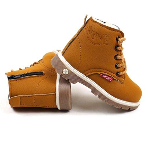 Hunpta Kinder Warm Jungen Mädchen Martin Sneaker Stiefel Kinder Baby Casual Schuhe Gelb