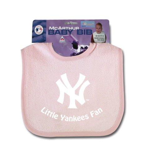 New York Yankees Baby Clothing (New York Yankees Snap Baby Bib (Pink))