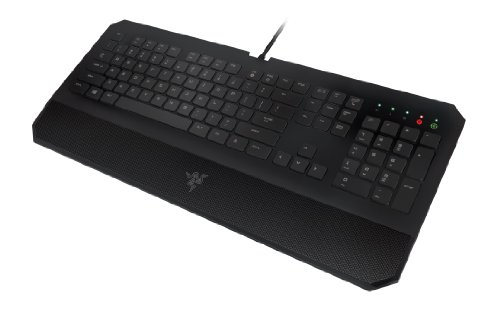(Razer DeathStalker Essential Gaming Keyboard - Ergonomic Gaming-Grade Membrane Keyboard With Wrist-Rest)