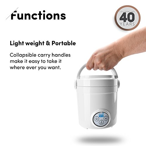 Aroma Housewares Mi 3-Cup (Cooked) (1.5-Cup UNCOOKED) Digital Cool Touch Mini Rice Cooker by Aroma Housewares (Image #3)