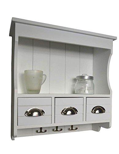 Livitat LV1049 Küchenregal, Holz, 18 x 50 x 50 cm, weiß