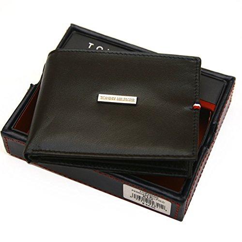 Tommy Hilfiger Leather Passcase Wallet Black