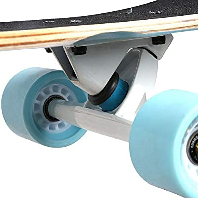 Alomejor Skateboard Complete 7 Ply Maple Wood Four Wheel Sports Skateboard with Strong Loading Anti-Skid Deck for Beginners, Adults, Teens (Heart) : Sports & Outdoors