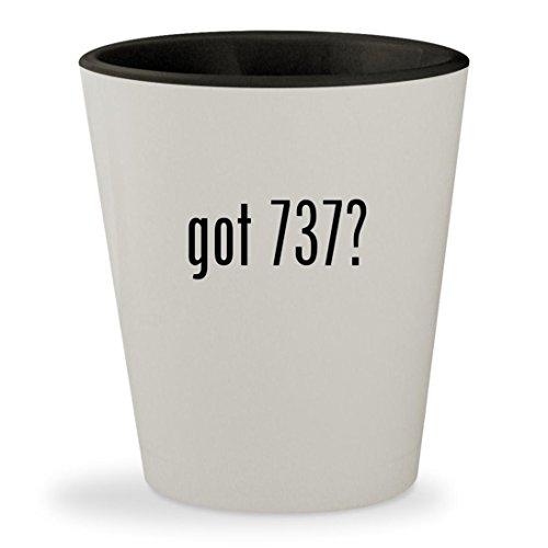 got 737? - White Outer & Black Inner Ceramic 1.5oz Shot Glass