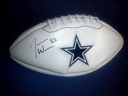 newest ba96f 2e947 Amazon.com: Jason Witten Autographed Football - Logo COA ...