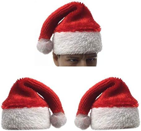 1/6スケール サンタクロース キャップ サンタ帽子 12インチアクションフィギュア用 装飾用品 3個入り