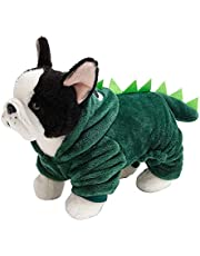Pet Costumes Halloween Costume Dog and Cat Halloween Suits - Dinosaur Dog Halloween Costume Pet Hoodie with Tail for Small Dogs Cats