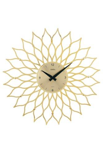ドイツ製お洒落な花弁装飾デザイン掛時計。シルバー、ゴールドの2色/AMS9359 (ゴールド) B008KMWKLCゴールド