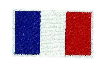 Toppa Ricamata Per Zaino Termoadesiva Motivo Bandiera Francese 3