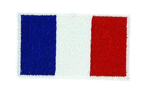 Patch Aufnäher bestickt Flagge Frankreich Französisch zum Aufbügeln Backpack Rucksack 3x 5