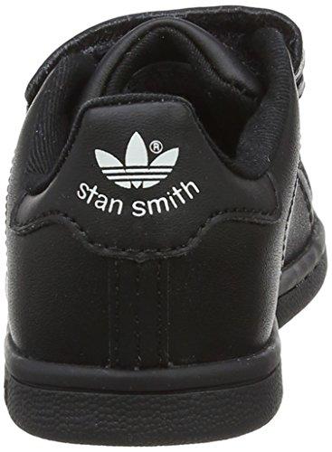 adidas Unisex Baby Stan Smith CF I Lauflernschuhe Schwarz (Cblack/cblack/ftwwht Bz0524)