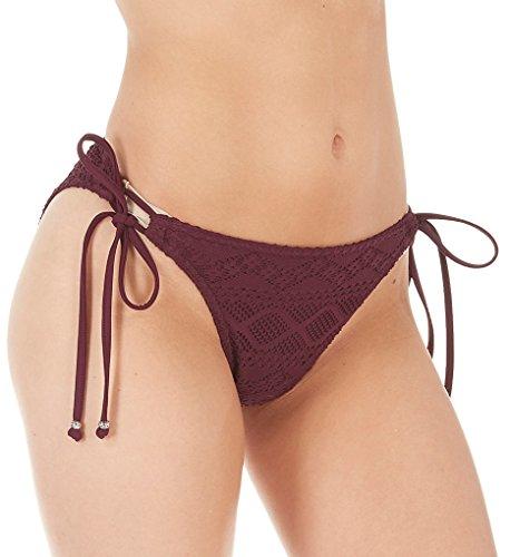 (Freya Sundance Rio Side Tie Bikini Bottom, S, Black Cherry)
