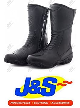 FRANK THOMAS FTLW127 HEIDI LADIES MOTORCYCLE BOOTS WOMENS WATERPROOF MOTORBIKE BOOT BLACK J&S (EURO 39 / UK 6)