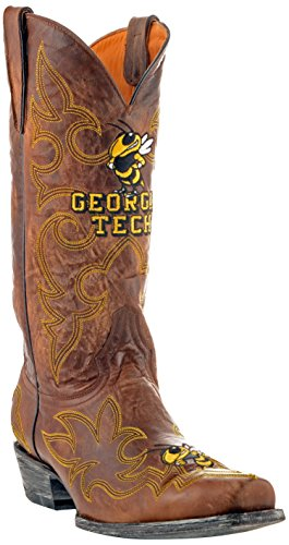 NCAA Georgia Tech Mens Gameday Boots Brass 2W9S8