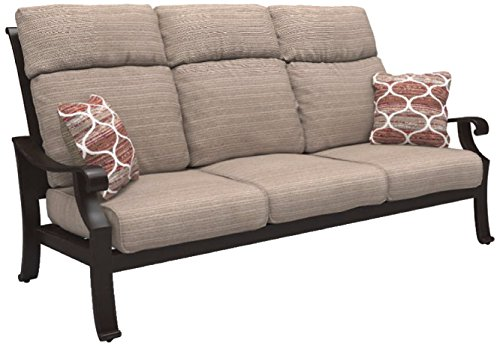 Ashley Furniture Signature Design – Chestnut Ridge Outdoor Sofa with Cushion – Brown
