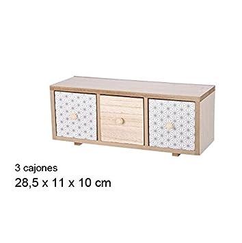 Cajonera Mini 3 cajones (Medidas:28,5x11x10cm): Amazon.es: Hogar