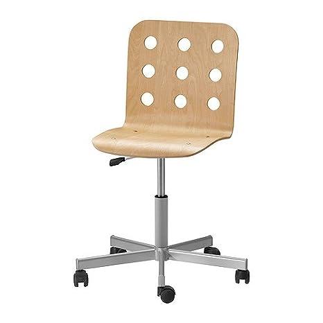 Sedie Girevoli Ikea.Ikea Jules Sedia Girevole In Legno Di Betulla Colore