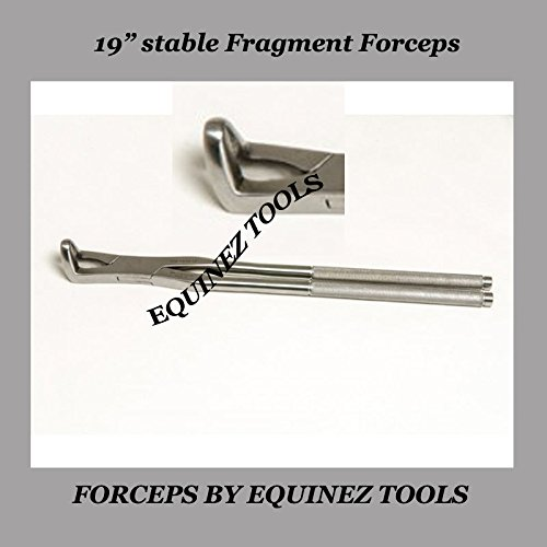 19  Equine Stable Fragment Forceps, with Pouch, Stainless Steel Equine Dental