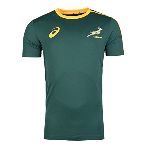 South Africa Springboks Supporters Rugby Tee 2017 - Bottle Green (Springboks Rugby)