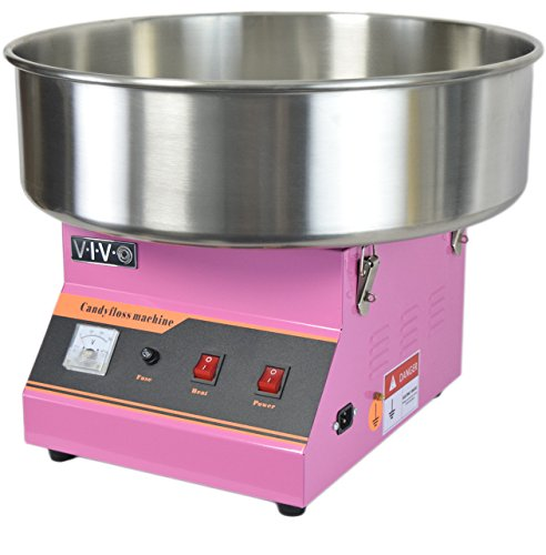Electric Commercial Cotton Candy Machine/Candy Floss Maker Pink VIVO (CANDY-V001)