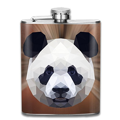 Cool Halloween Costumes Tumblr (Geometric-panda Flasks Stainless Steel Cool Liquor Flagon Retro Rum Whiskey Alcohol Pocket Flask Liquor Flagon Retro Rum Whiskey Flask Great Little Gift 7OZ)