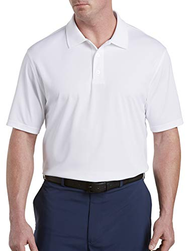Reebok Big & Tall Golf Play Dry Solid Polo (3XTall, White)