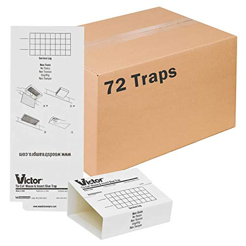 Victor M309 72 Pack Insect & Mouse Glue Board, White