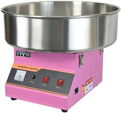 Electric Commercial Cotton Candy Machine / Candy Floss Maker Pink VIVO (CANDY-V001)