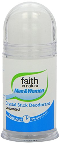 2x Faith in Nature Roll on Crystal Stick Deodorant Unscented for Men & Women