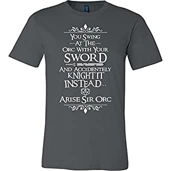 Amazon.com: World Of Tees Arise Sir Orc DND Shirt - Funny