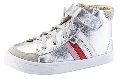 Old Soles Baby Girl's High Top Rb (Toddler/Little Kid) Silver/Pearlised Pink/Red Foil/Silver/Snow 24 M EU ()