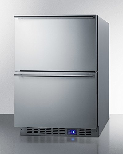 Summit Spff51os2d Built In Drawer Freezer  Stainless Steel