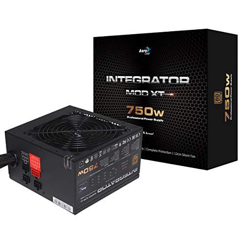 AeroCool Integrator Mod Xt 750W Power Supply, Semi-Modular