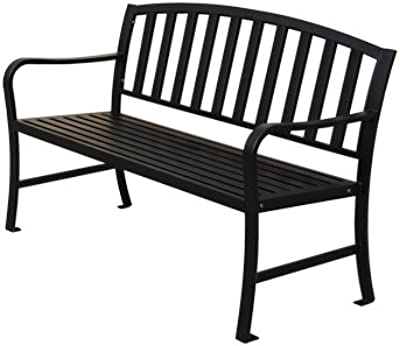 Kirby Built Products Steel Slat Bench - 4 Foot