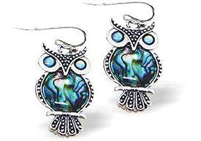 Byzantium Paua Shell Earrings Owl 9VgPeb